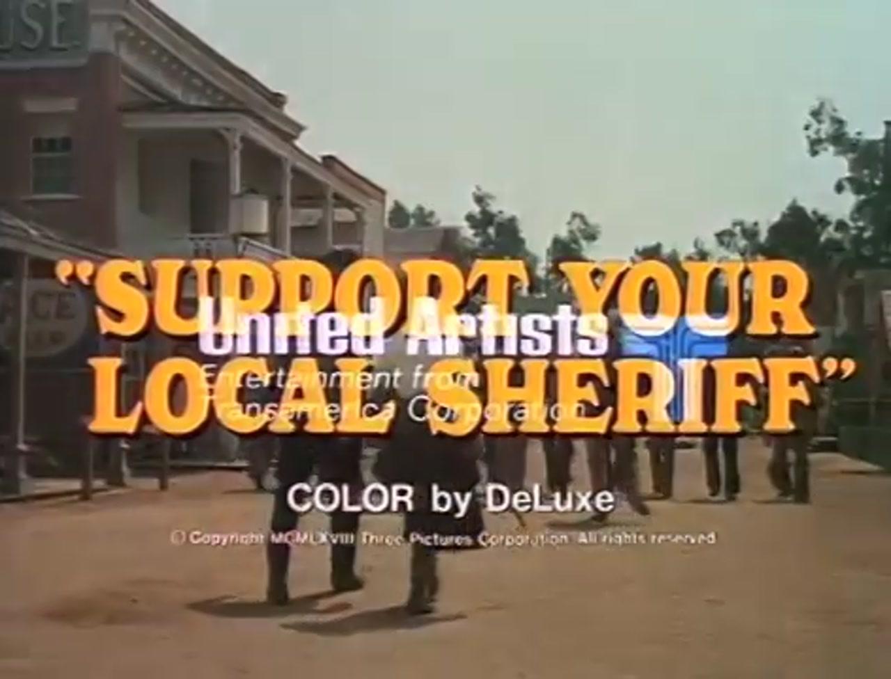 تریلر فیلم کلانتر بیباک Support Your Local Sheriff 1969