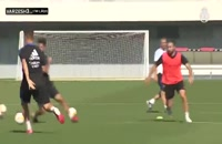 وینیسیوس و آلابا در تمرینات رئال مادرید
