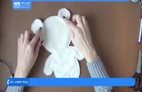 آموزش عروسک پولیشی - آموزش دوخت خرس با کلاه وشال گردن