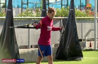 تمرینات آماده سازی بازیکنان تیم بارسلونا