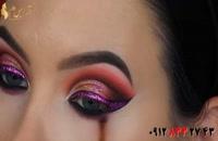فیلم آموزش آرایش شیمری چشم + میکاپ با سایه اکلیلی