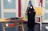 آموزش دوخت تن پوش راحت زنانه به شکل چادر