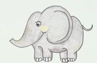نقاشی ساده فیل برای کودکان