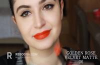 رژ لب مات مخملی گلدن رز - Golden Rose Velvet Matte Lipstick