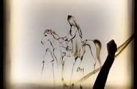 نقاشی تاسوعای حسینی با استفاده از شن توسط خانم فاطمه عبادی