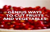 اموزش 35 ترفند جدید برای میوه ها و غذا برای تزیین