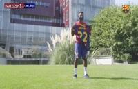 آنسو فاتی با شماره جدید در تمرینات تیم بارسلونا