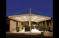سایبان پارچه ای بازشونده کافه رستوران- سقف برقی رستوران عربی- پوشش بازشو تالار عروسی-سقف تمام برقی کافی شاپ-سایبان کنترلی روفگاردن-سقف تاشو
