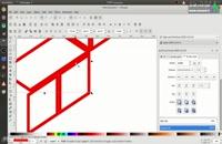 آموزش ساخت لوگو سه بعدی لاراول بصورت وکتور در inkscape