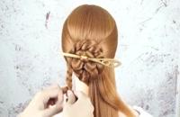 شینیون مو برای موهای بلند