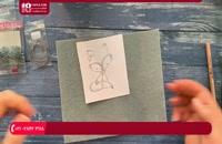 آموزش جواهردوزی - آموزش گل سینه طرح گربه