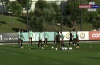 تمرینات تیم پرتغال برای دیدار دوستانه با حضور رونالدو