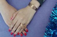 ست دستبند و انگشتر مسی گل برشی کد JW188.2