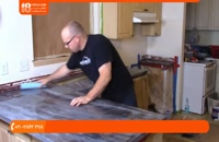 ترمیم صفحه چوبی کابینت با اجرای اپوکسی با خاصیت مقاومت در برابر ضربه و حرارت و ...
