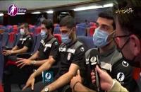 مصاحبه با بازیکنان تیم ملی پس از بازگشت به ایران