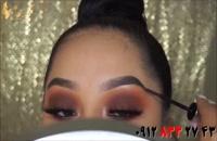 فیلم آموزش میکاپ چشم دودی + آرایش ابرو