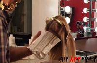 کلیپ آموزش هایلایت کردن مو + نحوه تقسیم بندی مو
