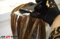 فیلم آموزش بالیاژ مو با رنگ مو رزگلد