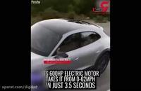 خودروی حیرت انگیز پورشه که مجهز به پهپاد است