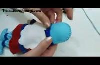 آموزش دوخت عروسک نمدی عمو نوروز برای تزئین سفره هفت سین عید