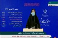 آخرین آمار کرونا در 24 شهریور ماه در ایران