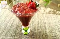 مربای توت فرنگی سالم و رژیمی بدون شکر