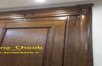 درب لابی چوب روس با روکش بوط