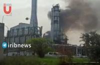آتش سوزی در پالایشگاه حمص سوریه