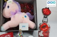 کادو ولنتاین با عروسک اسب تک شاخ صورتی