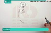 روش کشیدن نقاشی خروس برای دبستانی ها