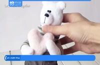 آموزش عروسک پولیشی - آموزش دوخت خرس با قلب