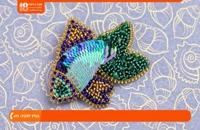 آموزش جواهردوزی - آموزش گل سینه ماهی پولکی