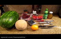 طرز تهیه کالسکه با هندوانه  - مخصوص شب یلدا