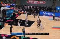 خلاصه بازی بسکتبال سن آنتونیو - لس آنجلس کلیپرز