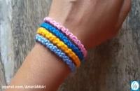 آموزش درست کردن دستبند زیبا و جالب