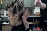 فیلم آموزش کوتاه کردن مو زنانه مدل لیر
