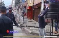 ابداع جدید پلیس نپال برای بازداشت ناقضین قرنطینه!