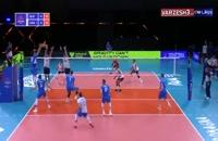 خلاصه بازی والیبال اسلوونی - آمریکا